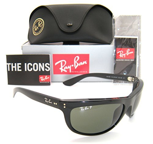 Ray-Ban RB 4089 Balorama 601/58 62mm Black Frame Green - Sunglasses Balorama