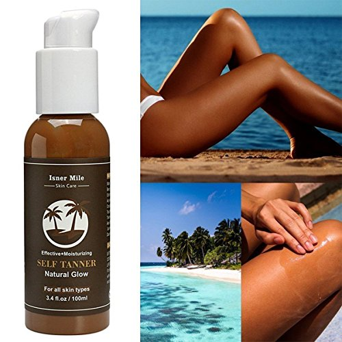 unless Tanning Lotion - Organic and Natural Ingredients and Best Bronzer Golden Buildable Light, Medium or Dark Gradual Tan for Body and Face ()