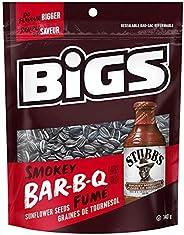 BIGS Sunflower Seeds Smokey Bar-B-Q Flavour 8x140g Bags, Smokey Bar-B-Q