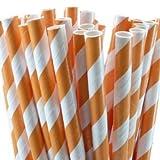 Paper Party Straws | 50 Ct (Orange)