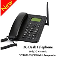 3G Desktop Telephone,V-Resourcing 2.4Dual Band Fixed Wireless 3G Desktop Telephone with Built-in Rechargeable Battery for Business Office Family