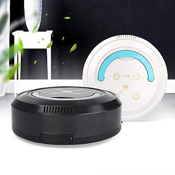 Fenteer Robot Aspirador Automático Inteligente Barrido USB Recargable para Alfombra de Piso Duro - Blanco: Amazon.es: Hogar
