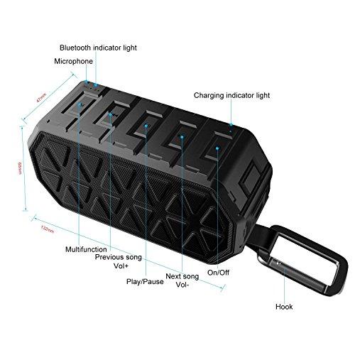 Bluetooth Speaker Under 50 Honeygrand Waterproof IPX6 Portable Wireless Bluet