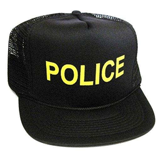 Pig Cop Costume (Police Officer Cop Halloween Costume Mesh Trucker Hat Cap Snapback)