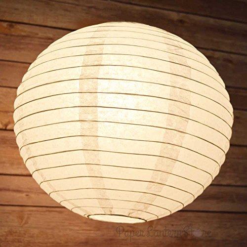 PaperLanternStore.com BULK CASE 12'' White Round Paper Lantern, Hanging Decorations, Even Ribbing, Hanging Decoration (100 Pack) by Quasimoon (Image #6)