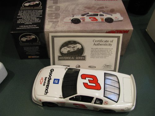 1997 Myrtle Beach Winston Racing Series Dale Earnhardt Jr #3 GM Goodwrench White Monte Carlo 1/24 Scale Diecast Hood Opens, Trunk Lid Is Removable Action Racing Collectables Limited Edition