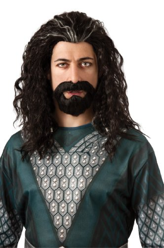 Rubie's The Hobbit Thorin Hair Kit, Black/Grey Streak, One Size]()