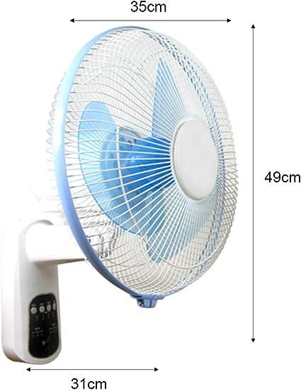 Ventilador de pared de 12 pulgadas, control remoto inteligente, ventilador ajustable de 3 velocidades, silenciador para el hogar, ventilador de enfriamiento de verano ...