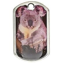 Graphics and More Koala Bear Military Dog Tag Keychain (d2215)