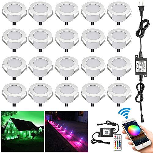 - WiFi RGB Deck Lights, FVTLED 20pcs Φ1.85