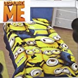 DESPICABLE ME Plush BLANKET Throw MINION Movie Size 62'' x 90'' NEW