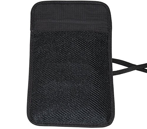 RFID Blocking Passport Holder Neck Pouch Travel Wallet