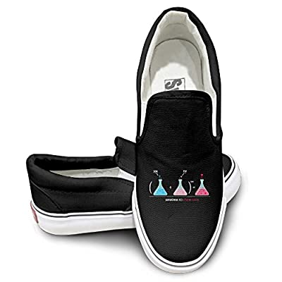 GD Love Chemistry Casual Unisex Flat Canvas Shoes Sneaker Black