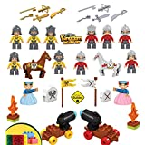 46 piece Kingdom Figure Set Including 12 Figures 2 Horses 2 Cannons (All Figures are Duplo compatible)