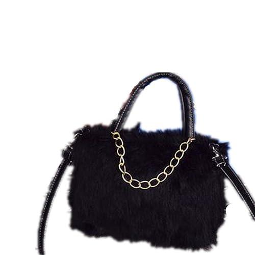 b9f466046a Cross Body Bag Nodykka Shoulder Bags Faux Fur Clutches Women Top-handle  Purse Handbags (