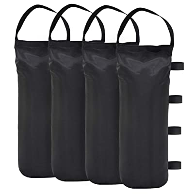Eurmax 112 LBS Extra Large Pop up Canopy Weights Sand Bags for Ez Pop up Canopy Tent Outdoor Instant Canopies, 4-Pack,Black (Without Sand) Dark Black: Garden & Outdoor