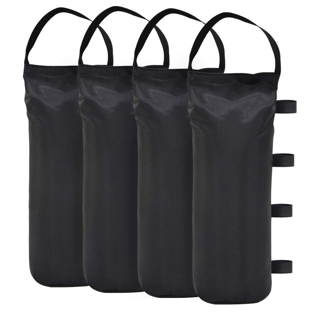 Eurmax 112 LBS Extra Large Pop up Canopy Weights Sand Bags for Ez Pop up Canopy Tent, 4-Pack,Black