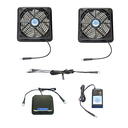 Plasma & LCD TV cooling fans with adjustable thermostat & multispeed control ()