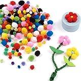Baker Ross Mini Pompon Colorati per Bambini (Confezione da 500)