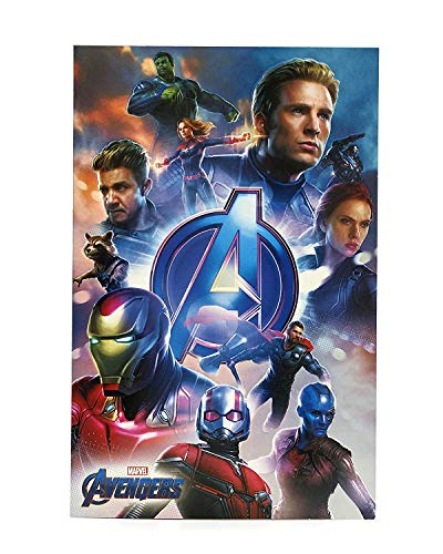Avengers Birthday Card - Ideal Gift Card for Him - Avengers Endgame - Avengers Featuring Captain Marvel, Iron Man, Thor, Hulk, Black Widow, Captain America, Rocket, Ant Man - Marvel