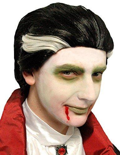 Vampiro Parrucca Uomo Parrucca Halloween Vampiro Costume Halloween Accessori  Hot VENDITORE Parrucca spaventosa Costume vampiro dracula 81f991889ff0