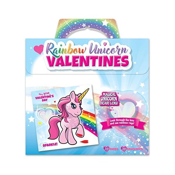 Kangaroo Rainbow Unicorn Valentine's Cards (28-Count) 3