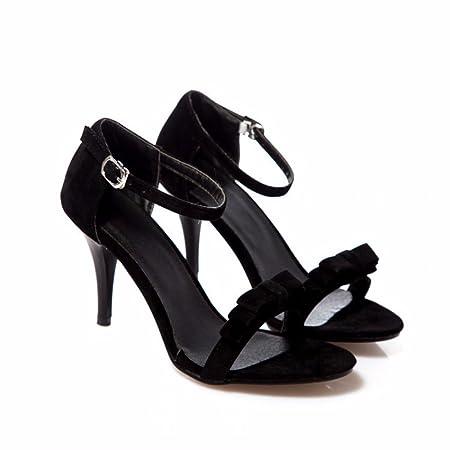 Bow Tie, Damenschuhe, High Heels, Sandalen, Schuhe der feinen Ferse Frauen, grün, 32