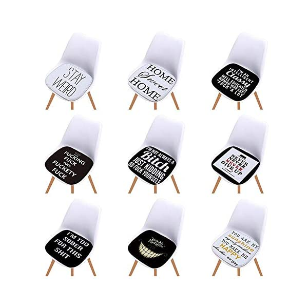 Monbedos - 1 cuscino per interni in spugna antiscivolo, per sedie, divani, per esterni, imbottito, cuscino per seduta… 6 spesavip