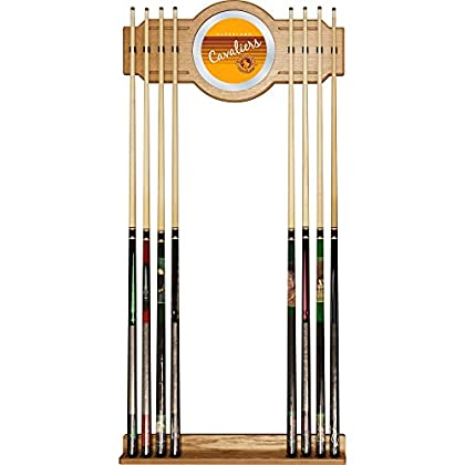 Image of Billiards NBA Cleveland Cavaliers Cue Rack with Mirror, One Size, Brown