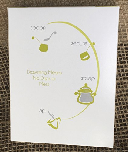 Premium Drawstring Tea Bags For Loose Leaf, Disposable Filters, Non GMO, Strong, No Mess Tag, All Natural Infuser, Compostable, Unbleached Manilla Hemp Paper by Musings Tea (Image #6)