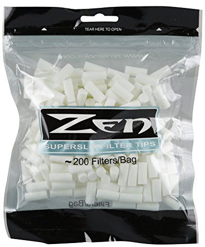 200pc Zen Premium Super Slim Filter Bag (Super Cigarette)