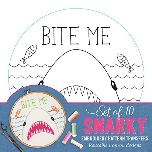 Snarky Embroidery Pattern Transfers (set of 10 hoop - Embroidery Pattern