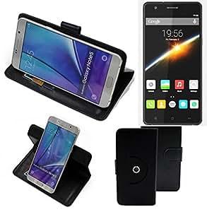 360° Funda Smartphone para Cubot S500, negro | Función de stand Caso Monedero BookStyle mejor precio, mejor funcionamiento - K-S-Trade