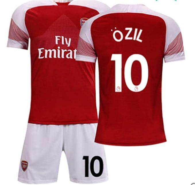 4ea5ff0b31b LISIMKE Soccer Team 2018 19 Arsenal Ozil  10 Kid Youth Replica Jersey Kit