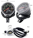 "MakeTheOne Old School Style Bike Speedometer Analog Odometer Classic Style for Exercycle & 24""-27.5"" Bicycle"