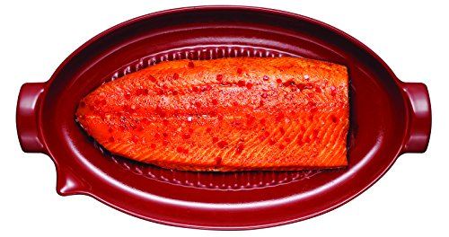 Emile Henry Made In France Flame BBQ Fish Baking Dish, 19.7 x 11'', Charcoal by Emile Henry (Image #3)