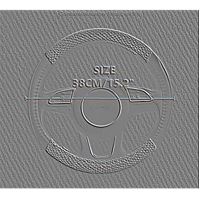 SHAKAR Bohemian Style Steering Covers-Blue Boho Steering Wheel Covers,Universal 15 inch (SWC-boheD): Automotive