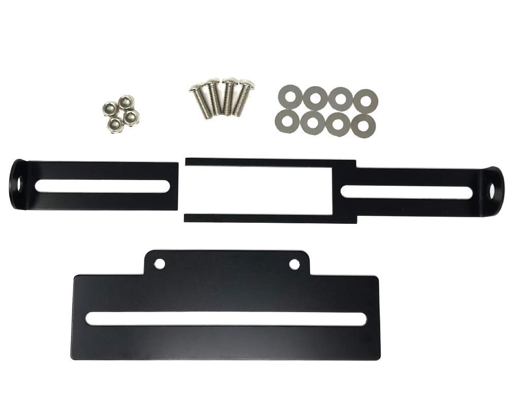 Adjustable Top Quality Motorbike Tail Tidy Number License Plate Holder BLACK