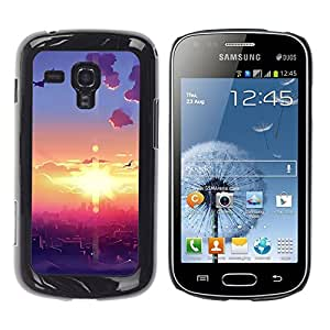 """For Samsung Galaxy S Duos S7562 , S-type Sunset Beautiful Nature 108"""" - Arte & diseño plástico duro Fundas Cover Cubre Hard Case Cover"""