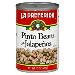 La Preferida Pinto Beans Jalapenos, 15-Ounce (Pack of 12)
