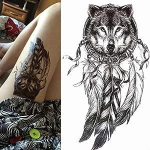HXMAN 5 Unids Tatuaje Rosa Brújula Manga Temporal Tatuajes Brazo ...