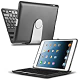 iPad Pro 9.7 Keyboard, CoverBot iPad Pro Keyboard Case Station BLACK Bluetooth Keyboard iPad Pro 9.7 Inch. Folio Style Cover with 360 Degree Rotating Viewing Stand Feature (for 9.7-inch iPad Pro Only)