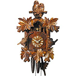 German Cuckoo Clock 1-day-movement Carved-Style 13.00 inch - Authentic black forest cuckoo clock by August Schwer