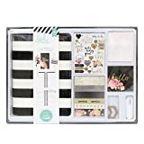 American Crafts Heidi Swapp Memory Planner Kit Gold Foil black and White 929 Piece
