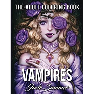 Vampires: An Adult Coloring Book with Sexy Vampire Women, Dark Fantasy Romance, and Haunting Gothic Scenes for Relaxation