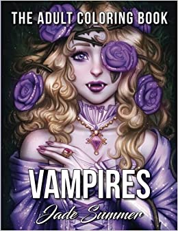 amazon com vampires a vampire coloring book with mythical