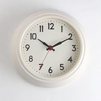 AIZIJI Los clásicos de la Literatura Inglesa del Reloj de Pared Minimalista Habitaciones Inicio Creativo pequeño Reloj de Pared /20cm m Blanco: Amazon.es: ...