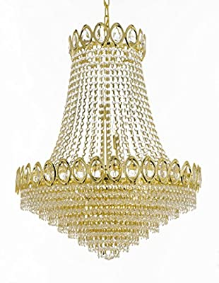 French Empire Crystal Chandelier Chandeliers Lighting , H30 X Wd24 , 9 Lights ,