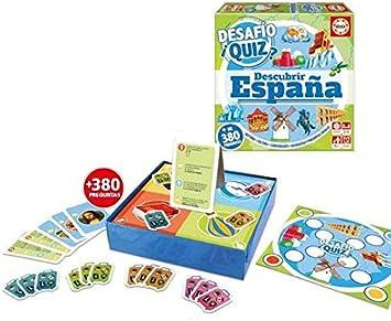 Educa Borras, S.A.U. Juego Desafio Quiz Descubrir España: Amazon.es: Juguetes y juegos