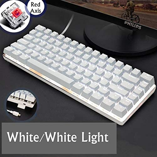 Gaming Keyboard Key Alloy Panel USB Wired Backlight Mechanical Gaming Keyboard Blue//Black Axis with Detachable Cable Keyboard Color : Option 11